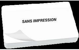 Carte blanche sans impression + rabat adhésif pré-installé