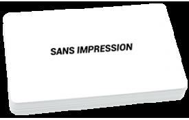 Carte blanche sans impression