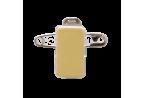 Clip adhésif mixte : pince métal et épingle