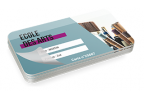 Impression fabrication carte badge enseignement ultra rigide