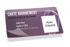 Impression fabrication carte badge association ultra rigide