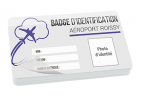 Impression fabrication carte badge professionnelle ultra rigide