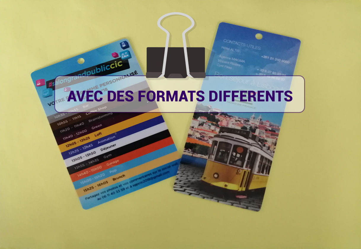 avec des formats differents